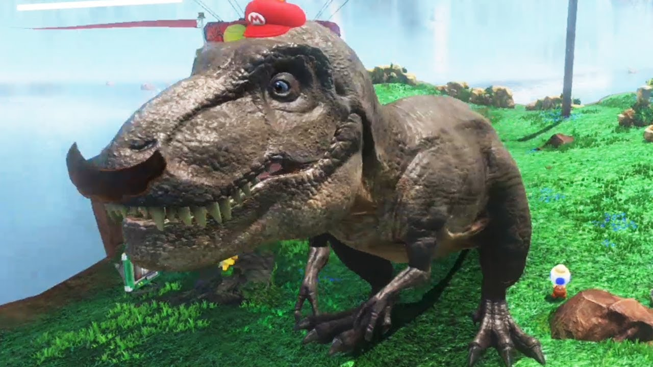 Super mario odyssey all t rex locations youtube for T rex location