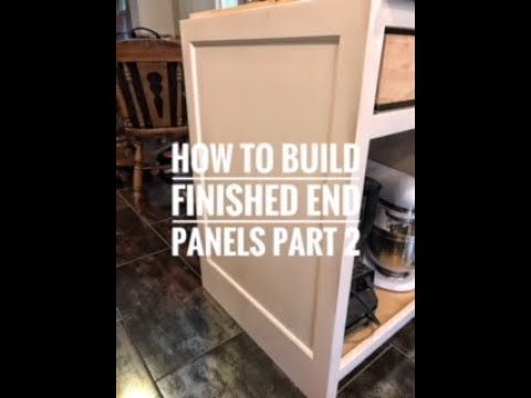 How to build finished end panels part 2