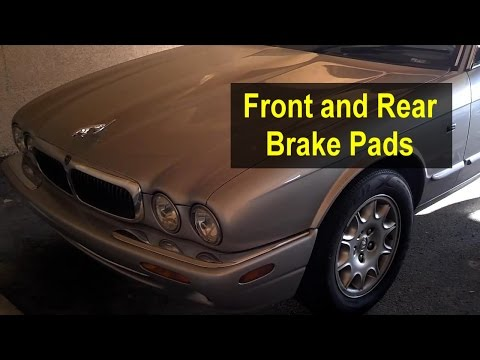 Brake pads replacement, front and rear, Jaguar XJ8, 1998 – 2003 – VOTD