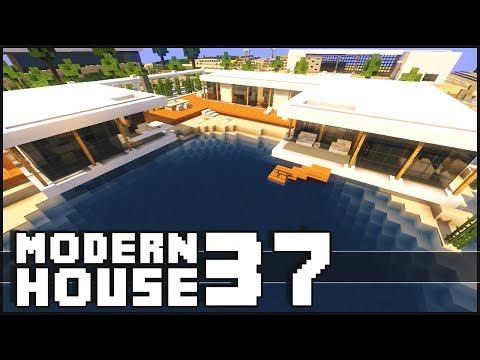 Minecraft lets build small modern house 18x18 lot doovi for Modern house 18x18