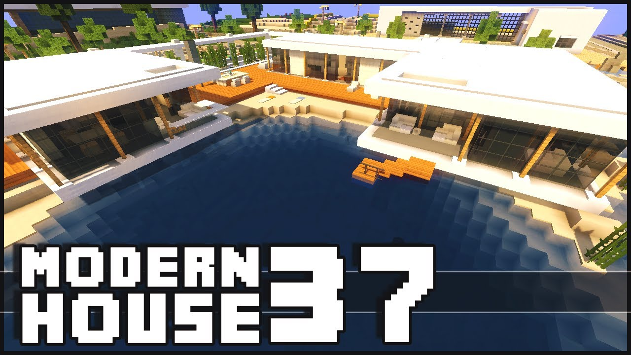 Minecraft Modern House 37 YouTube