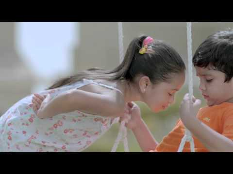 FUNNY! Girl sniffs Boy!!! Let two little brats charm you in this Tamil Comfort TVC.