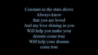 Constant as the stars above - lyrics