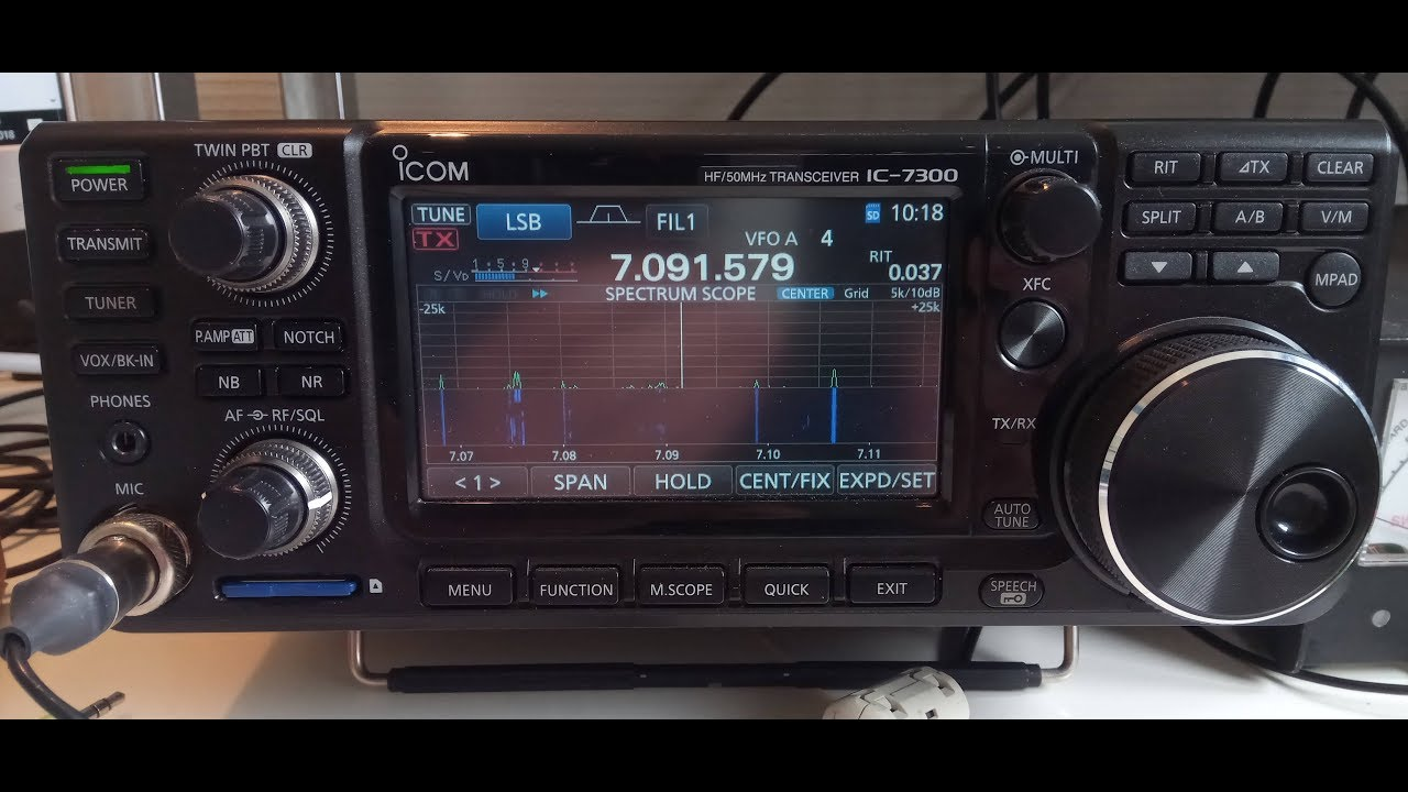 How to use the voice-keyer in the ICOM ic-7300 with N1MM contest program