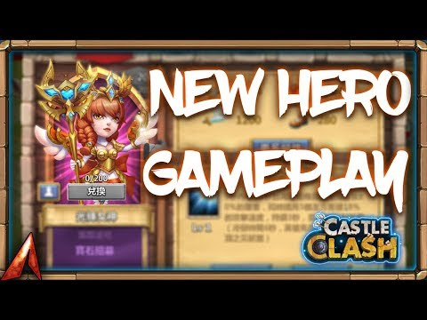 NEW HERO GAMEPLAY! She Gonna Be GOOD! Castle Clash