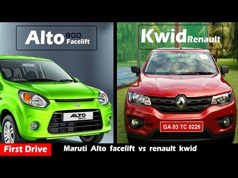 New Alto 800 facelift vs renault kwid,Compare and review|First Drive|