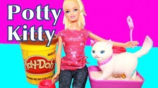 Barbie Potty Trainin' Blissa Kitty Cat Review Pees Poop Play-Doh Food AllToyCollector