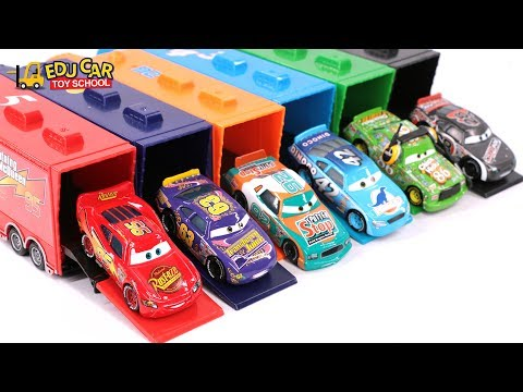 Thumbnail: Learning Color Special Disney Pixar Cars Lightning McQueen Mack Truck Playset for kids car toys