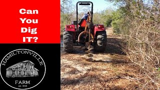 How to use a tractor POST HOLE DIGGER (3 point hitch Auger) on a Hobby farm