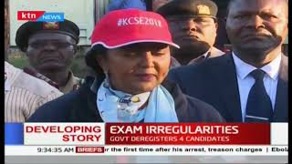 Four KCSE candidates deregistered, 40 teachers to be disciplined over exam irregularities