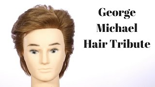 George Michael Hair Tutorial Tribute - Careless Whisper Haircut - TheSalonGuy