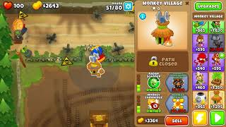 BTD6 Bloons Tower Defense 6 Firing Range Hard Rounds 3-80 No Lives Lost NLL No Heros/Abilities