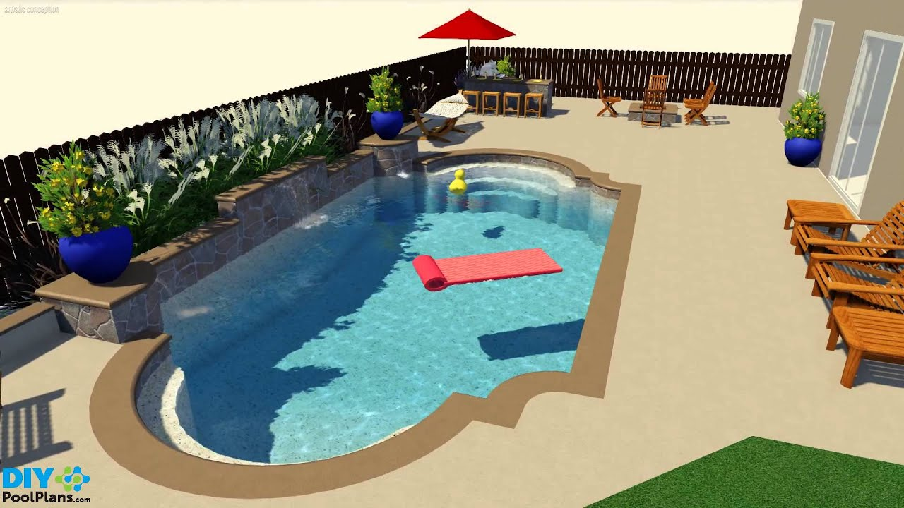 Roman Swimming Pool Designs aegean style small garden swimming pool design in roman shape with paved decking Roman Grecian Pool Design Youtube