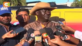 VIDEO: ODM leader Raila Odinga arrives in Mombasa ahead of the party's 10th anniversary ...