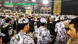 Beautiful view of Holy Kaaba door opening in Makkah.