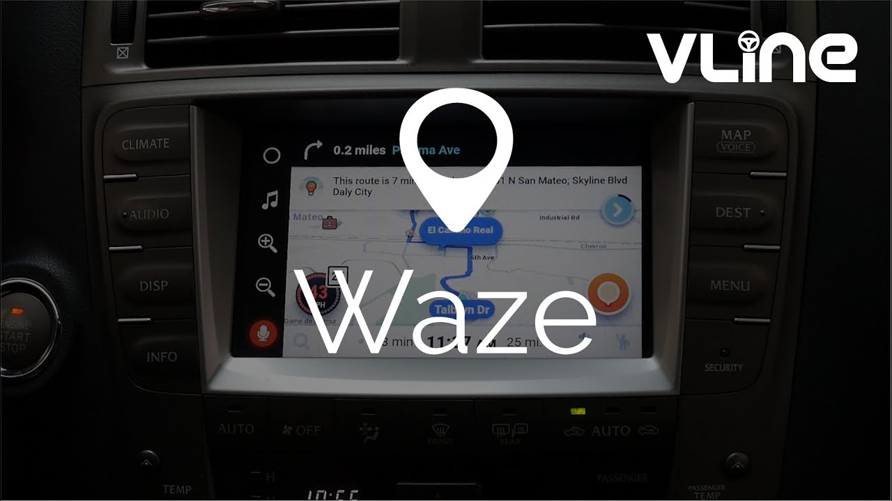 VLine Maps for Driving: Google, Waze and Sygic