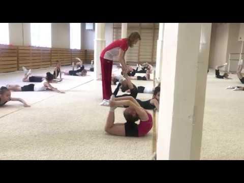 Урок художественная гимнастика видео