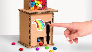 Skittles Candy Dispenser Machine Out Of Cardboard