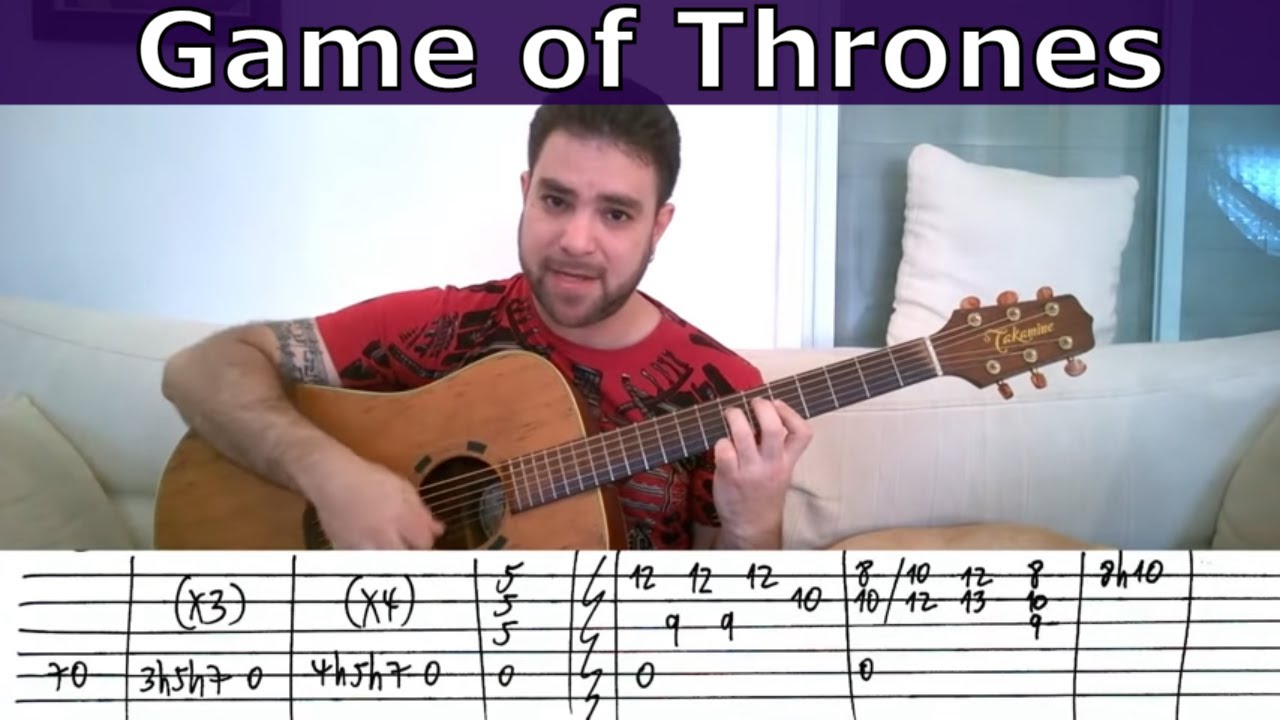 Fingerstyle Tutorial: Game of Thrones Theme - Guitar Lesson w/ TAB ...