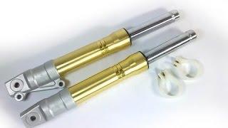 видео Разборка и ремонт амортизаторов передней вилки Honda Dio AF