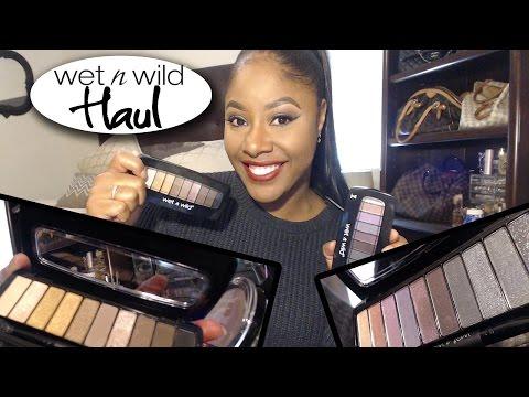 Wet N Wild Cosmetic Haul + Swatches Drugstorehaul  MakeupMesha