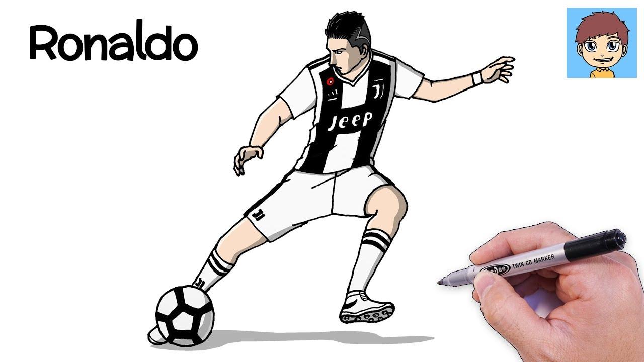 Comment Dessiner Cristiano Ronaldo Facilement Dessin Facile A Faire Dessin Ronaldo Youtube