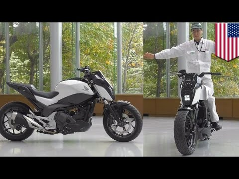 Future motorcycles: Honda self-balancing Riding Assist tech keeps bike balanced - TomoNews