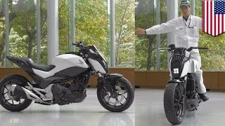 Future motorcycles: Honda self-balancing Riding Assist tech keeps bike balanced - TomoNews(LAS VEGAS — Honda has unveiled a well-balanced piece of motorcycle tech designed to help riders stay in the saddle at low speeds. The Riding Assist ..., 2017-01-06T10:05:29.000Z)