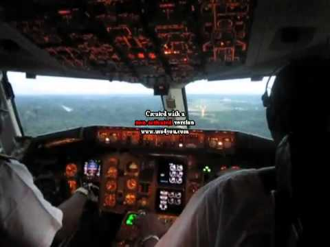 CAMAIR CO 767-300ER APPROACH AND LANDING (COCKPIT VIEW) YAOUNDE NSIMALEN