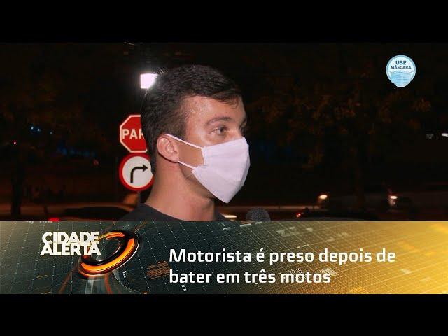 Motorista é preso depois de bater em três motos na BR-316