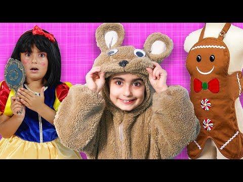 Mira ile  Eğlenceli Kostüm Alışverişi | Pamuk Prenses Kurabiye Adam Ayı Kostümü