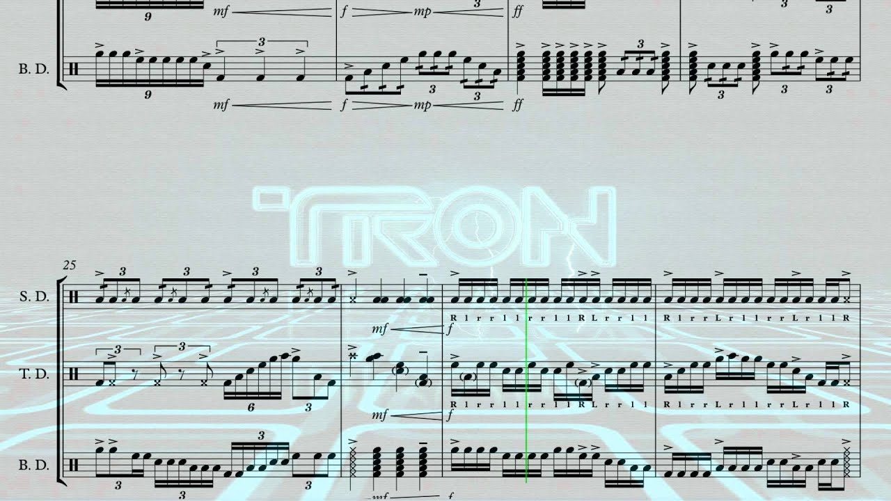 fall tron movie soundtrack drumline style youtube