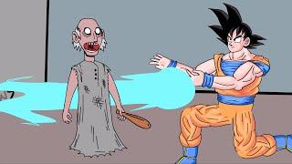 GRANNY THE HORROR GAME | Goku VS Granny Game