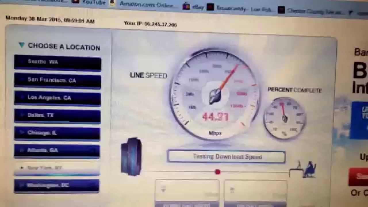 how to test your download speed