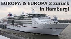 EUROPA & EUROPA 2 erreichen Hamburg! Rückkehr der beiden Luxus Kreuzfahrtschiffe am 2. Mai 2020