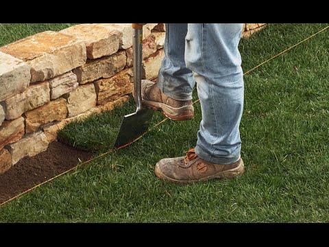 Video guida bordura muro fol nde giardini in pietra for Cordoli per aiuole in tufo