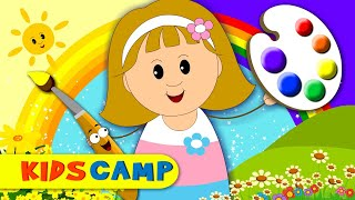 the yellow color song   colors song   learn colours   nursery rhymes for children by kidscamp