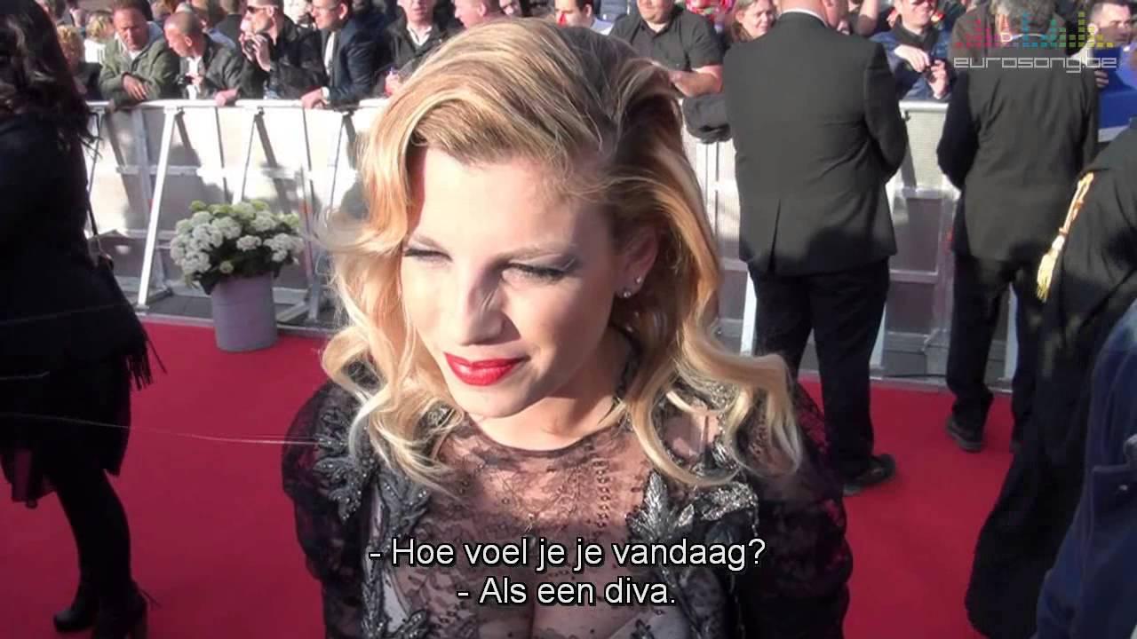 Emma Marrone on the red carpet in Copenhagen (Eurovision ...