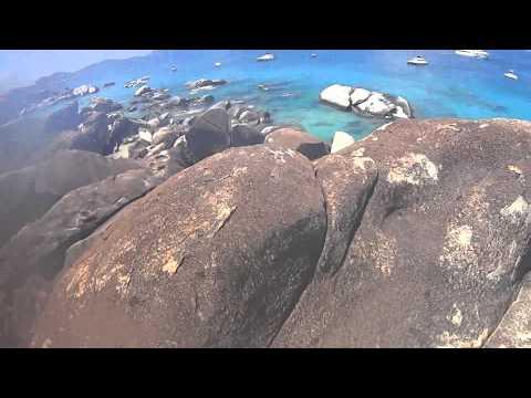 Virgin Gorda-BVI- Climbing over Devils Bay