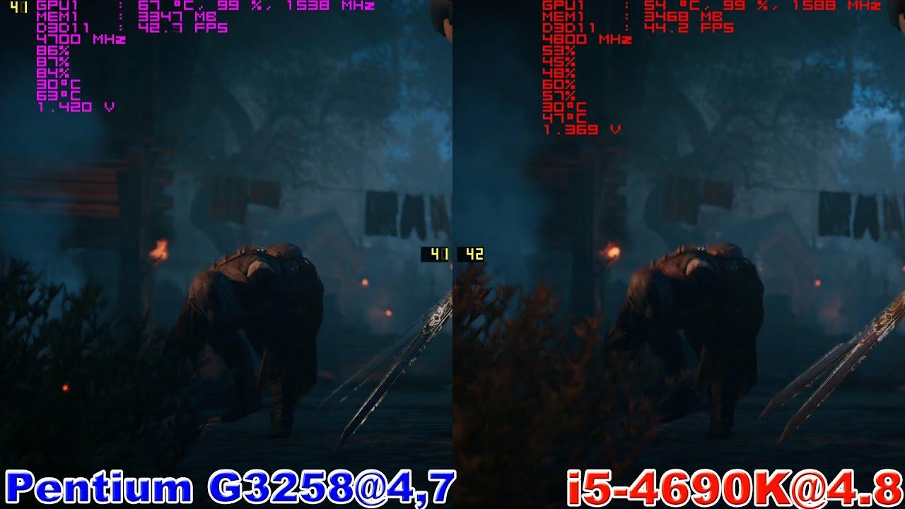 Pentium G3258 vs i5 4690K in Assassin's Creed Unity (GTX 970)