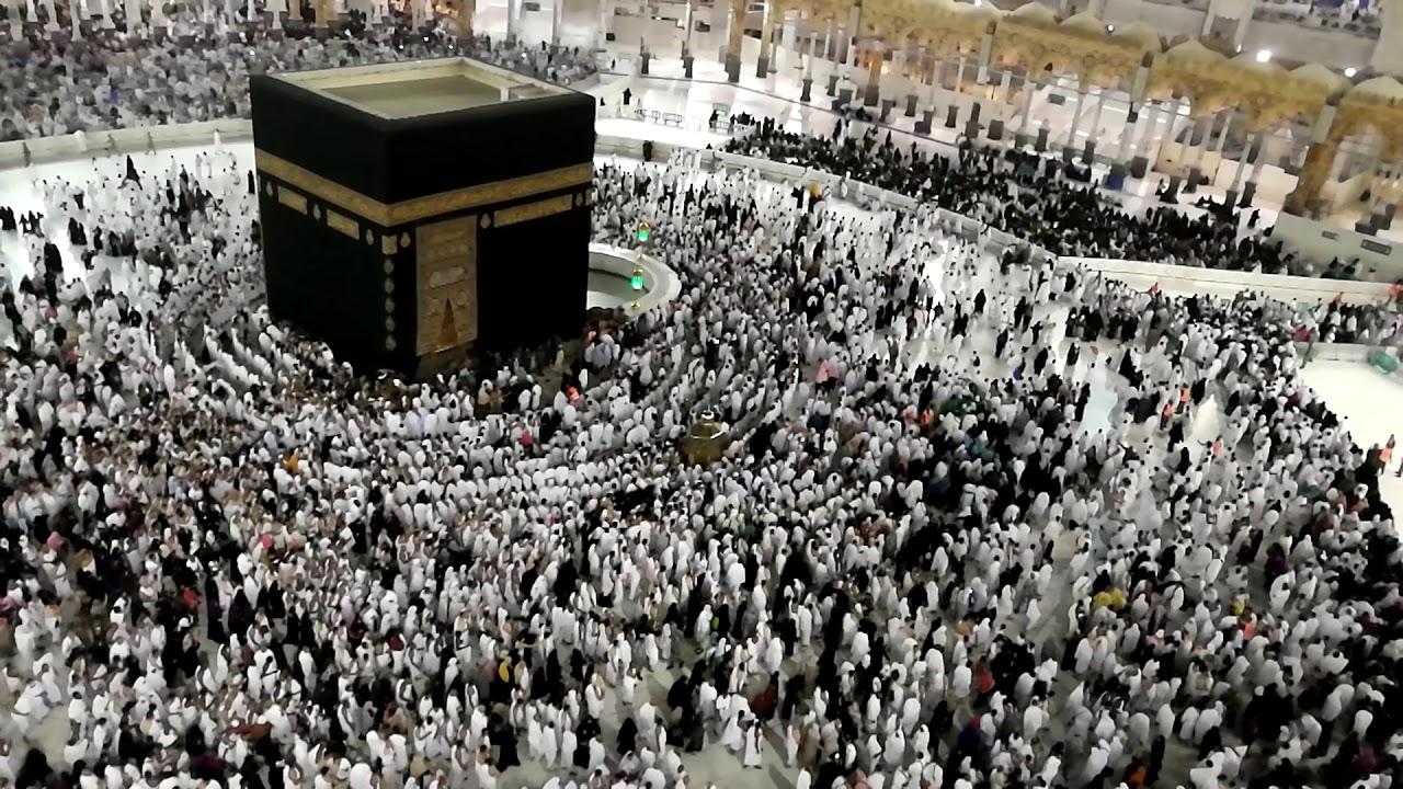 Makkah Mecca Beautiful Adhaan Bird S Eye View Of Circumambulation Of Ka Aba Youtube