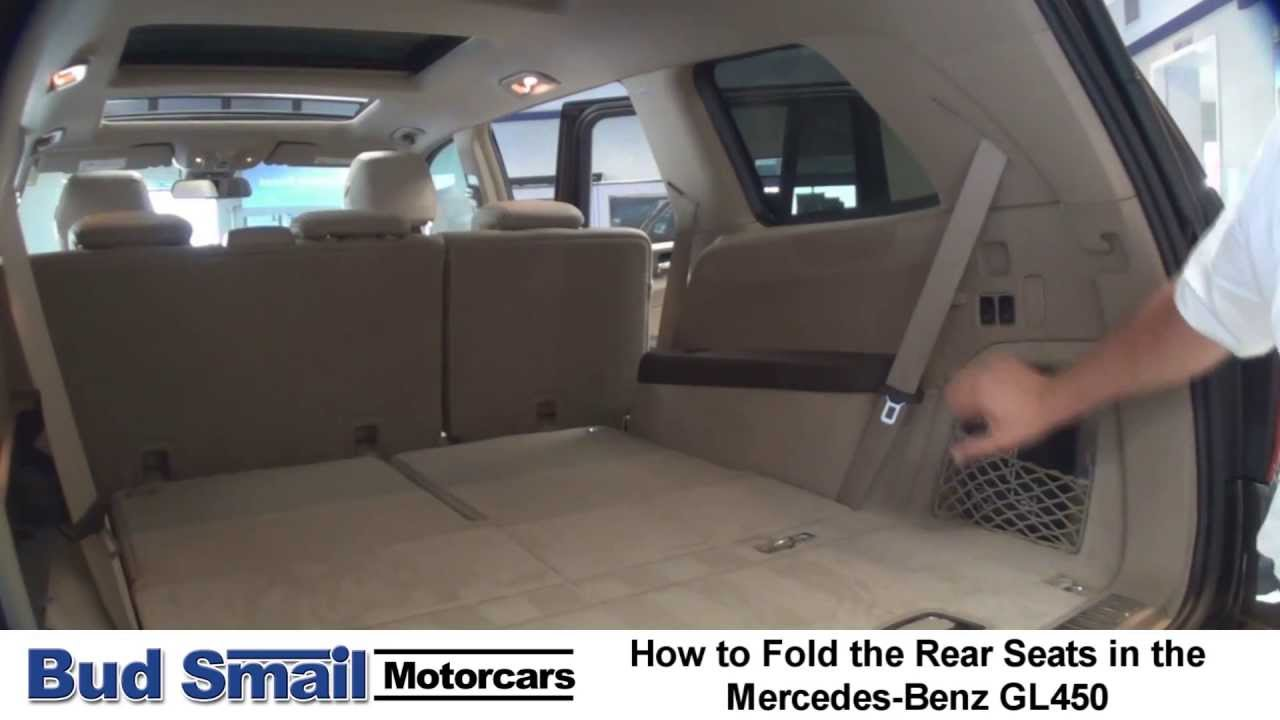 Folding The Rear Seats In A Mercedes Benz Gl450 Youtube