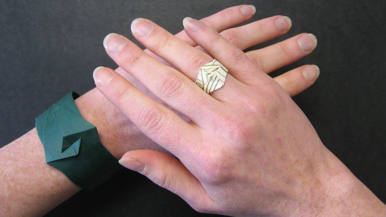 Origami Instructions: Bracelet or Ring (Ioana Stoian) - YouTube
