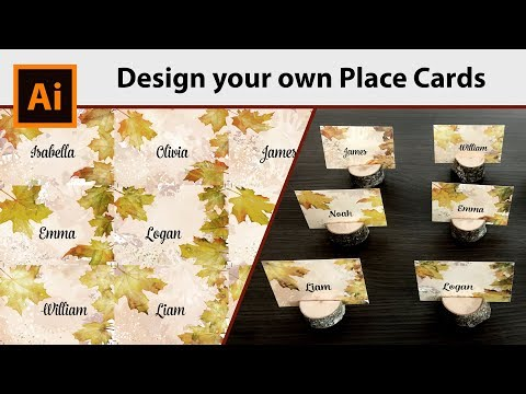 How to make your own Place Cards DIY in Adobe Illustrator