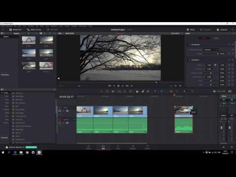 Знакомство с DaVinci Resolve 14 - монтаж первого клипа