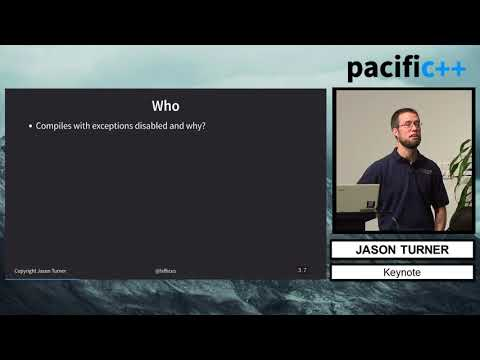 "Pacific++ 2017: Jason Turner ""Rethinking Exceptions"""