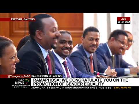 Ethiopian PM Abiy Ahmed On A State Visit To SA