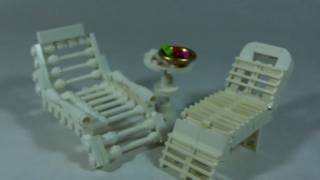 How To Build: Lego Deck/pool Chairs