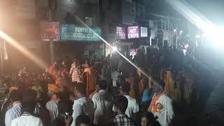 Street Fight at SR Nagar Hyderabad During Ganesh Immersion , Ganesh Idol Immersion at Hyderabad