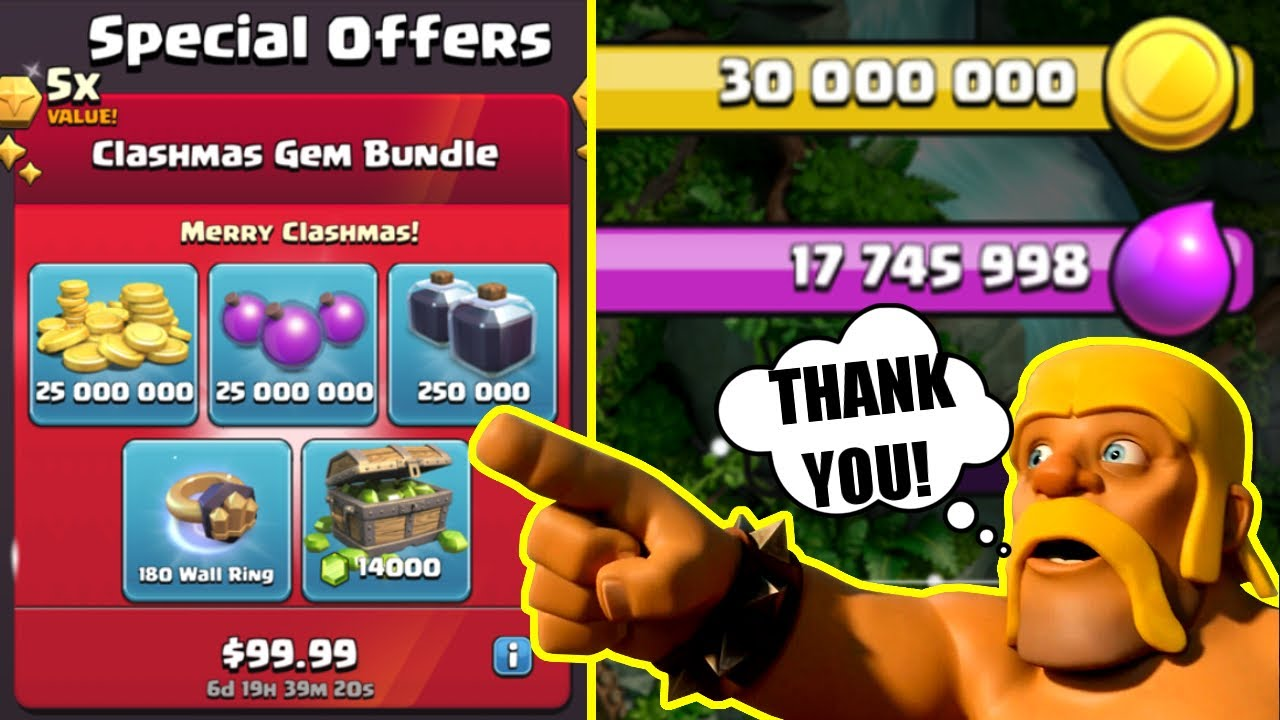 THANK YOU SUPERCELL FOR THESE SPECIAL OFFERS!